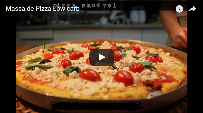 pizza low carb massa de frango