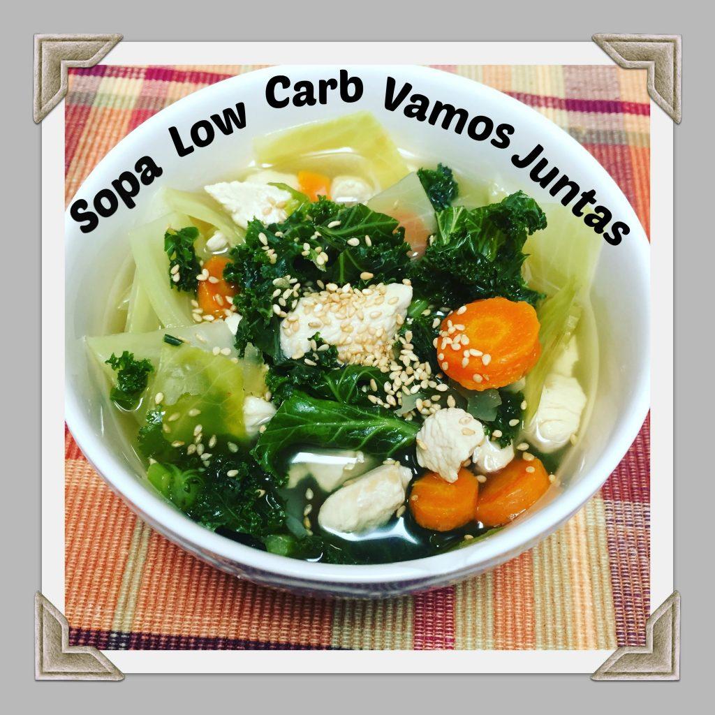 sopa low carb receita